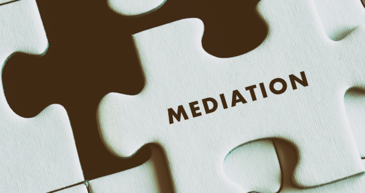 Puzzle with Mediation written on a puzzle piece.